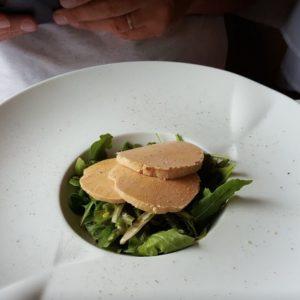Restaurant Les platanes de Chénas, fois gras