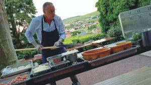 Les platanes de Chénas, pizza en terrasse